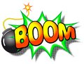Boom explosion vector illustration of a cartoon with the word Stock Photography