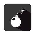 Boom explosive isolated icon