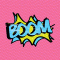 Boom pink expression over background vector illustration Stock Photo