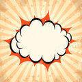 Boom pow cloud background Royalty Free Stock Photo