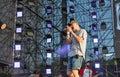 BoomBox rock band performs at Atlas Weekend festival. Kiev, Ukraine.