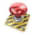 Boost d render alarm button Royalty Free Stock Photos