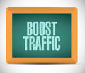 Boost traffic board sign illustration design over a white background Stock Photos