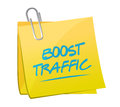 Boost traffic memo post illustration design over a white background Royalty Free Stock Photography