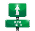 Boost traffic road sign illustration design over a white background Stock Photo