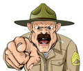Boot camp drill sergeant an illustration of a cartoon angry character Stock Images