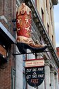 Boot Country store sign in Nashville Royalty Free Stock Photo