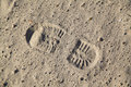 Boot footstep Royalty Free Stock Photo