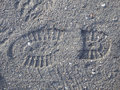 Boot print Royalty Free Stock Photo