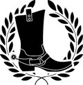Boot with spurs Royalty Free Stock Images