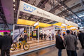 Booth of SAP company at CeBIT information technology trade show
