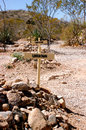 Boothill Tombstone unknown grave markers Royalty Free Stock Photo