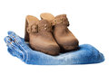 Boots on jeans Royalty Free Stock Photos