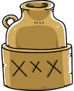 Booze jug a of moonshine marked with xxx Stock Photography