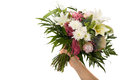 Boquet bunch of flower isolated on white background Stock Photo