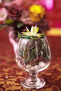 Boquet of flowers the on arranged table Royalty Free Stock Photography