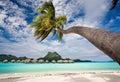 Bora bora beach resort Stock Image