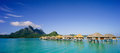 Bora bora panoramic beautiful of Stock Photography