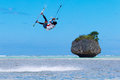 The Boracay internanional funboard cup 28-31 January, 2015. Boracay, Philippines. Freestyle category. Young kitesurfer on