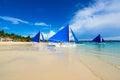 Boracay, Philippines. White Beach Royalty Free Stock Photo