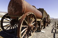 Borax wagon old wagons used to haul out of death valley in california Stock Photography