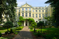 Borch Palace - House of the Archbishops of Warsaw. View from the garden. Royalty Free Stock Photo