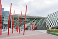 Bord gais energy theatre in dublin ireland june ireland on june square at the grand canal dock south Royalty Free Stock Image