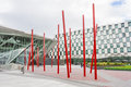 Bord gais energy theatre in dublin ireland june ireland on june square at the grand canal dock south Royalty Free Stock Photos