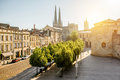 Bordeaux city in France Royalty Free Stock Photo