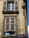 Bordeaux gironde france september the buildings in rue n notre dame have seen better days on Stock Photography
