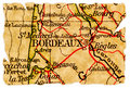Bordeaux old map Royalty Free Stock Photography