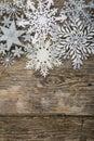 Border of Christmas snowflakes Royalty Free Stock Photo