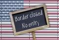 Border closed - no entry Royalty Free Stock Photo