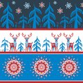 Border decorative seamless pattern with deer