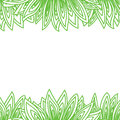 Border frame with many green leaves Royalty Free Stock Photo