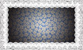 Border lace fabric frame isolate made ​​of floral with empty spaces Stock Image