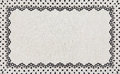 Border lace fabric frame isolate made ​​of floral with empty spaces Stock Photography