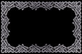 Border lace fabric frame isolate made ​​of floral with empty spaces Stock Photos