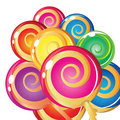 Border of lollipops. Royalty Free Stock Photo
