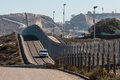 Border Patrol Vehicle Patrolling San Diego-Tijuana Border