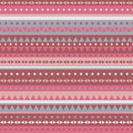 Border pattern triangles and stars - brown pink Royalty Free Stock Photo