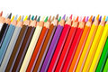 Border from  pencils with copyspase Royalty Free Stock Photo