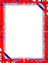 Border: Red White Blue Royalty Free Stock Images