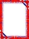Hranice biely modrý