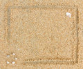 Border sand as background Royalty Free Stock Photo