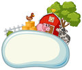 Border template with farm animals in background Royalty Free Stock Photo