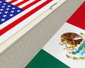 Border Wall Between America and Mexico Royalty Free Stock Photo