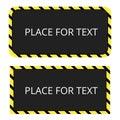 Border yellow and black color. Construction warning border. Vect Royalty Free Stock Photo