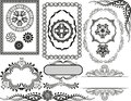 Borders and frames set of decorative ornaments Stock Image