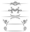 Borders hand drawn element vector design Royalty Free Stock Photo